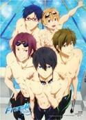 Free! - Iwatobi Swim Club Key Art Group Wall Scroll Poster