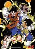 Dragonball Z Vegeta Fight Group Wall Scroll Poster