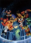 Megaman Group Wall Scroll Poster