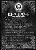 Death Note Rules Wall Scroll