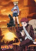 Naruto Gaara and Companion Wall Scroll