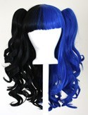 Umeko - Half Natural Black and Half Royal Blue Split