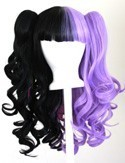 Umeko - Half Natural Black and Half Lavender Purple Split