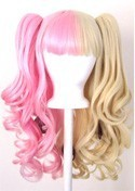 Umeko - Half Flaxen Blonde and Half Cotton Candy Pink Split