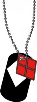 Batman Harley Quinn Cut Out Dog Tag Necklace