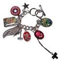 Marvel Avengers Symbols Jeweled Charm Bracelet