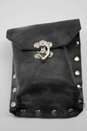 Steam Punk Pouch Holster Black Leather Accessory