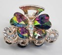 Hair Clip Rainbow Sparkly Jeweled Butterfly