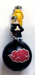 Naruto Deidara and Accessory Key Chain and Figure