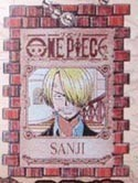 One Piece Sanji Wanted Key Chain