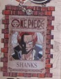 One Piece Shanks Wanted Key Chain