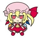 Touhou Project Rubber Key Chain FumoFumo Fran