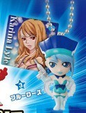 Tiger and Bunny Mascot Key Chain Blue Rose