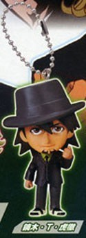 Tiger and Bunny Kotetsu Mascot Key Chain Real Face 2 Swing