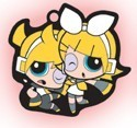 Vocaloid X Powerpuff Girls Rin and Len Key Chain