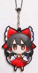 Touhou Project Remilia Reimu Rubber Key Chain
