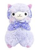 Llama 4'' Plush Purple Earmuff Alpaca Key Chain