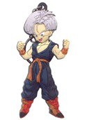 Dragonball Z Trunks Rubber Key Chain