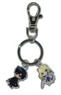 Fate Zero Saber and Kiritsugu Metal Key Chain