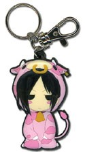 Black Butler Sebastian Cow PVC Key Chain