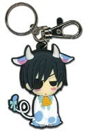 Black Butler Ciel Cow PVC Key Chain