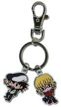 Tiger and Bunny Kotetsu and Barnaby Charm Metal Key Chain