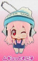 Super Sonico Fuzzy Hat Mascot Key Chain