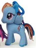 My Little Pony 3'' Rainbow Dash Plush Key Chain Clip