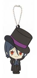 Black Butler Sebastian Book of Circus Rubber Key Chain