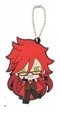 Black Butler Grelle Book of Circus Rubber Key Chain