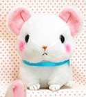 Cute Baby Animals 3'' White Mouse Amuse Plush Key Chain