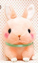 Cute Baby Animals 3'' Pink Bunny Amuse Plush Key Chain
