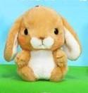 Pote Usa 3'' Brown Bunny Amuse Plush Key Chain