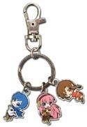 Vocaloid Kaito, Luka and Meiko Metal Charm Key Chain