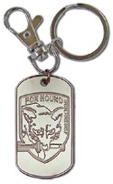 Metal Gear Solid 3 Fox Hound Dog Tag Key Chain