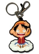 One Piece Chibi Luffy on Cloud Key Chain