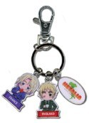 Hetalia Axis Powers England and France Key Chain