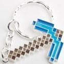 Minecraft Blue Pick Axe Key Chain