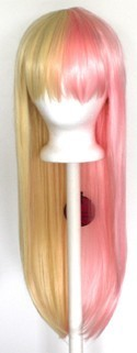 Suzu - Half Flaxen Blonde and Half Cotton Candy Pink Split