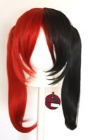 Nanako - Scarlet Red and Natural Black Split