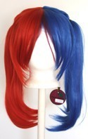 Nanako - Scarlet Red and Royal Blue Split