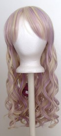 Erika - Flaxen Blonde and Lavender Purple Blend