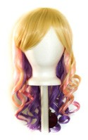 Mei - Flaxen Blonde, Cotton Candy Pink, Lavender Purple