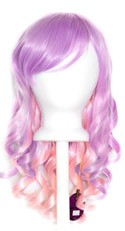 Mei - Lavender Purple Fade Cotton Candy Pink