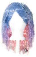 Mari - Saxe Blue, Lavender Purple, Fade Cotton Candy Pink