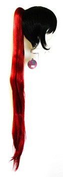 Long Straight Clip - Crimson Red