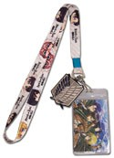 Attack on Titan Chibi Lanyard Key Chain