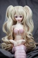 Doll Wig Meiko - Flaxen Blonde and Hazelnut Brown Blend