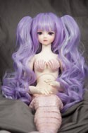 Doll Wig Meiko - Lavender Purple and Mint Green Blend