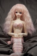 Doll Wig Fae - Flaxen Blonde Fade Cotton Candy Pink